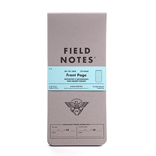 Field Notes Front Page 2-Pack of Reporter's Notebooks