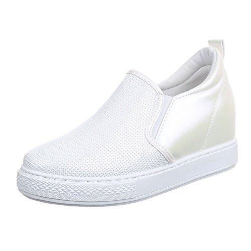 Ital-Design - Zapatillas de casa Mujer blanco