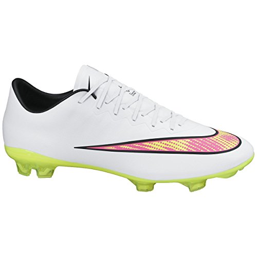 NikeMercurial Vapor X FG - Calcio Scarpe da Allenamento Uomo Weiß (White/Volt-Hyper Pink-Black)