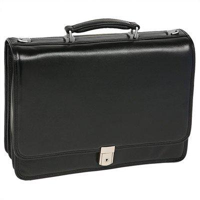 Mcklein I Series River North Leather Laptop Briefcase Black 43555 by McKlein USA