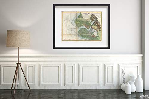 1857 U.S. Coast Survey of San Antonio Creek and Oakland, California (Near San Francisco) Map|Vintage Fine Art Reproduction|Size: 18x24|Ready to Frame -