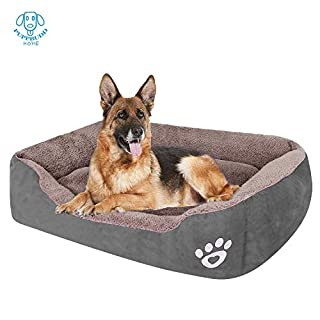 PUPPBUDD Dog Bed with Machine Washable Comfortable and Safety for Medium and Large Dogs Or Multiple Small Pets at The Same time Brand Name (XXL, Grey)