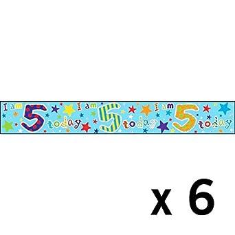 Simon Elvin - Pack de 6 carteles con diseño 5 cumpleaños ...