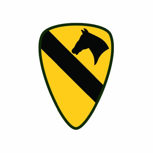 1st Cavalry Division - Color Sticker - Decal - Die Cut hot sale