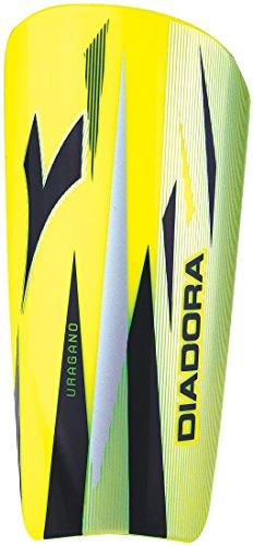 Diadora Unisex Uragano Soccer Shinguards, Yellow, Black, L