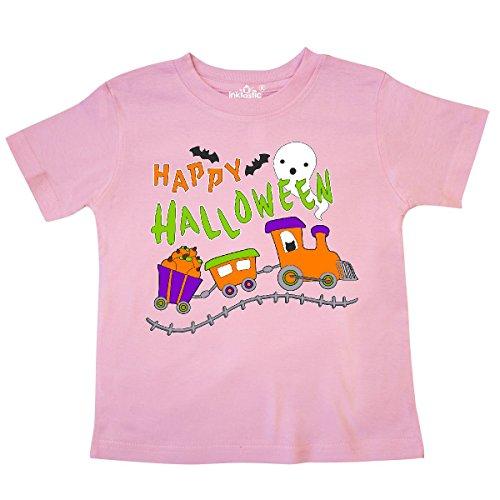 inktastic - Happy Halloween- Train with Pumpkins, Bats, Toddler T-Shirt 2bdec