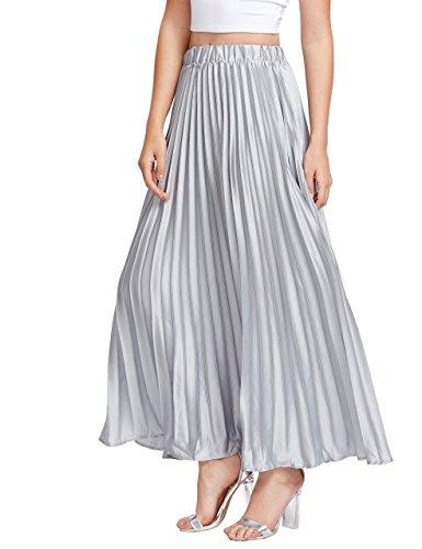 Kleid grau silber lang