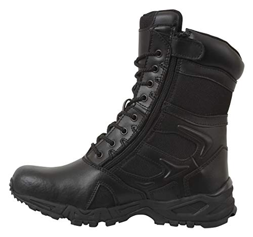 Rothco Forced Entry Deployment Boot with Side Zipper, 10, Regular Black