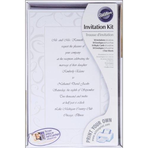 Wilton Elegant Swirls Wedding Invitation product image