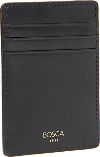 Bosca Old Leather Collection Black Deluxe Front Pocket Wallet