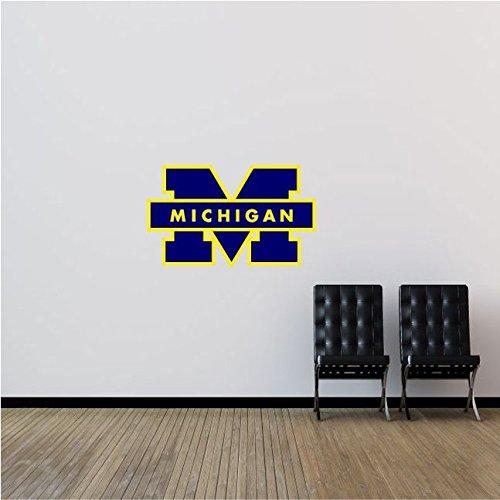 Michigan Wolverines NCAA USA Logo College Sport Art Wall Decor Sticker 25
