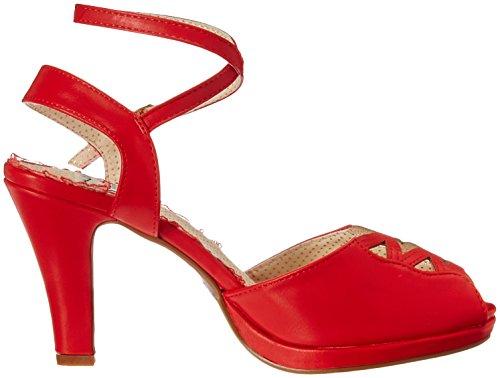 Bettie Page Womens Bp401-Taryn Heeled Sandal Red TxOmPZQNl