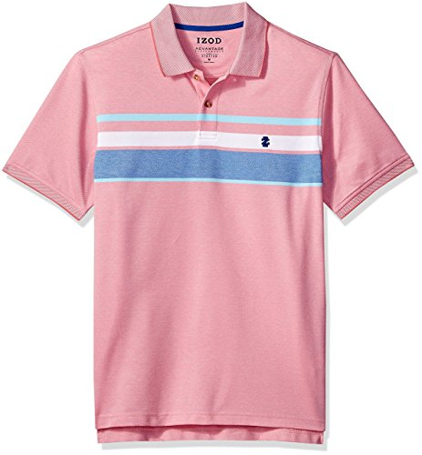 IZOD Mens Big and Tall Advantage Performance Stripe Polo (Big & Tall and Tall Slim)