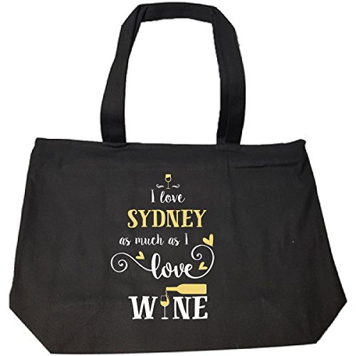 I Love Sydney As Much As I Love Wine Gift For Her - Tote Bag With Zip