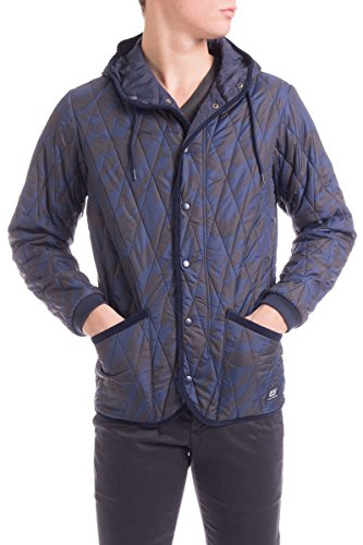 55DSL by Diesel Men's JAPUTON Patterned Hooded Quilted Jacket Sz Small (55dsl Jacket)