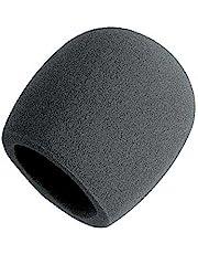 On Stage Foam Ball-Type Mic Windscreen, Black