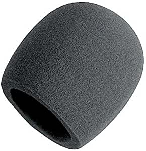 On Stage Foam Ball-Type Mic Windscreen, Black 1 Pack Black