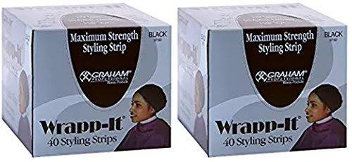 - Wrapp-It Black Styling Strips (2 Pack)