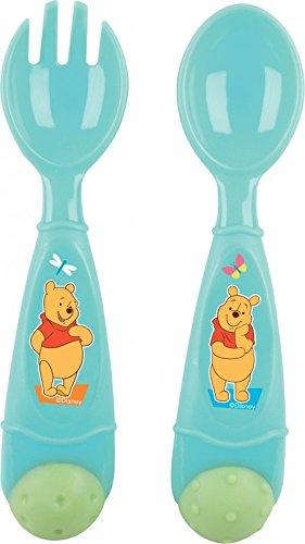 Winnie the Pooh de Disney 2 piezas Cubertería de recién nacidos para ...