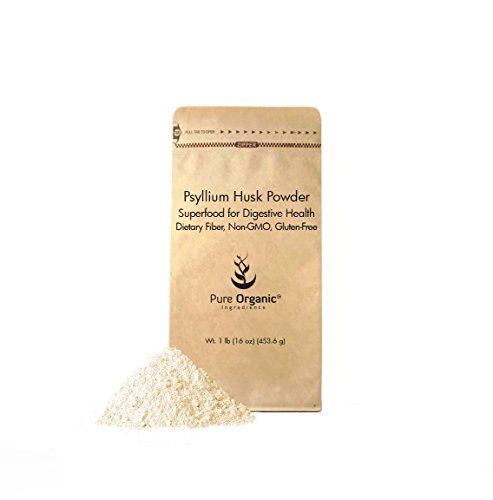 Psyllium Husk Powder by Pure Organic Ingredients, Fiber Powder Supplement, Additive for Gluten-Free Baking (1 lb) by Pure Organic