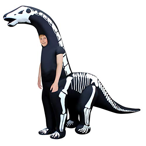 Morph Kids Skeleton Diplodocus Inflatable Dinosaur Costume Jurassic Giant One -