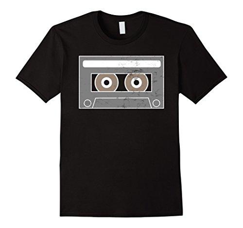 Mens Cassette Tape Hip Hop Mix Tape Halloween T Shirt XL Black