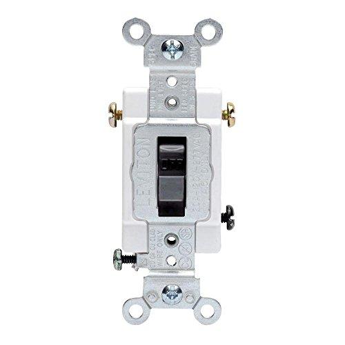 Leviton 20 Amp 3-Way Preferred Toggle Switch, Black from Leviton