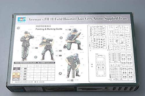 Trumpeter 426 German Field Howitzer Gun Crew on carrying in 1:35