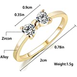 Fashion Crystal Rhinestone Gold Plated Finger Bow Wedding Engagement Ring WelcomeShop (8)