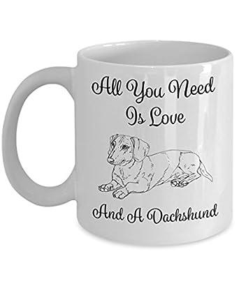Cute Love Dachshund Mug - 11oz Dachshund Cup - Dachshund Gifts - Dachshund Coffee Mug ...