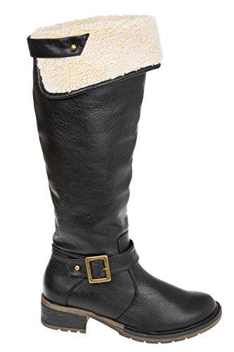 Gibra Women's Boots Warm Lined Black Size 345678 Black 1qVYJ
