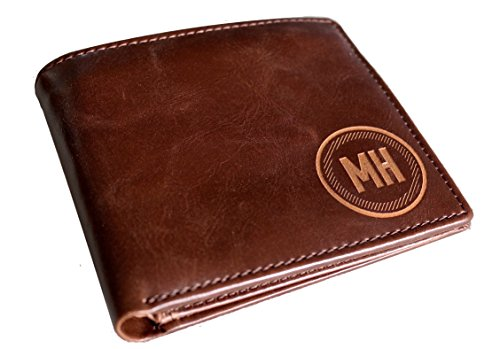 Engraved Leather Wallet - Personalized Men's Leather Wallet