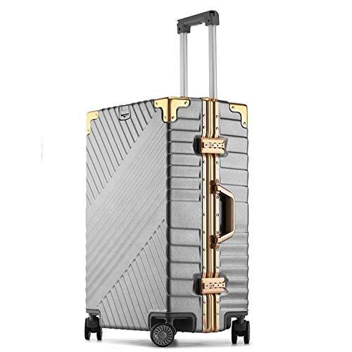 Reclain 高容量クリエイティブローリング荷物スピナースーツケースホイール 20 インチ黒キャビントロリーアルミフレーム旅行バッグ 20\ グレー B07R2LYQ3T
