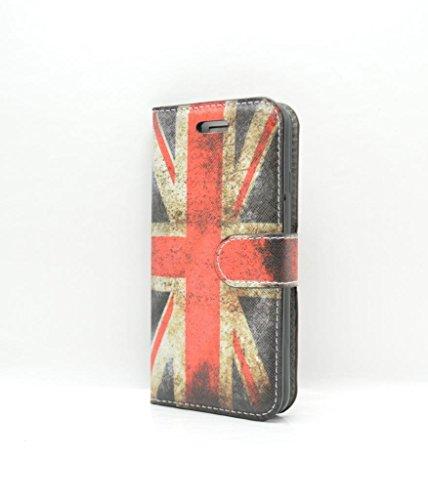 iPhone 7cover case–vintage Union Jack porta carte di custodia in pelle sintetica con vetro temperato e schermo- Oliviasphones per telefono
