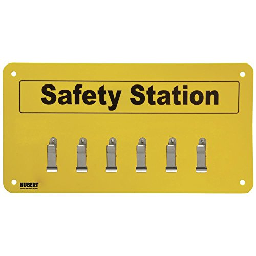 (HUBERT Safety Station Sign With Clips - 11 1/2 W x 6