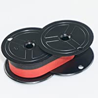 NEW UNIVERSAL BLACK AND RED PRINTING CALCULATOR RIBBON SPOOLS WITH DARK PRINT QUALITY (3-PACK DEAL)