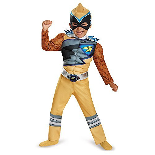 Gold Ranger Dino Charge Costume (Disguise Gold Ranger Dino Charge Toddler Muscle Costume, Small (2T) by Disguise)