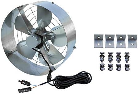 ECO-WORTHY - Panel solar con ventilador de 25 W, L07P100-SV40-1 ...