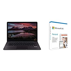 AVITA PURA NS14A6INU541-MEGYB 14-inch Laptop (R3/8GB/256GB SSD/FHD/Win10 Home/AMD Radeon Vega 3 Graphics/1.34 kg), Metallic Black(Grey) +Microsoft 365 Personal – One Year Subscription Included