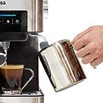 Ufesa-Ce7255-Macchina-per-Caffe-Espresso-Due-Funzioni-Macchina-Da-Caffe-Cialde-Macchina-Da-Caffe-Macinato-Touch-Screen-Vaporizzatore-Regolabile-Macchina-Caffe-20-bar-MetalloNero