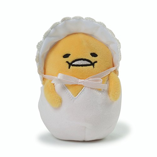 GUND Sanrio Gudetama The Lazy Egg Baby Stuffed Animal Plush, Yellow & White, 4.5
