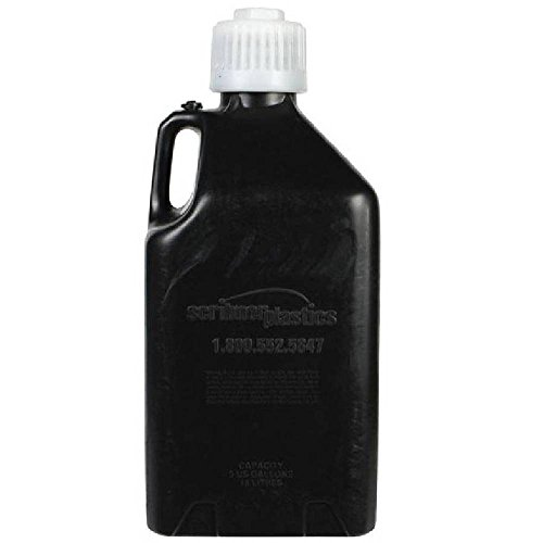 Scribner Plastics (2000K-6PK Black Utility Jug - 5 Gallon Capacity, (Pack of 6)