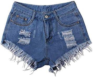 Dames Shorts Lose Vintage Jeans Mini Meisjes Moderne Jeansshort Dames jeans Elegant zomerbroek gat borduurwerk Floral Chic