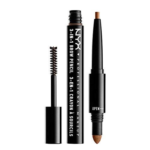 NYX Professional Makeup 3 In 1 Brow Pencil, Caramel