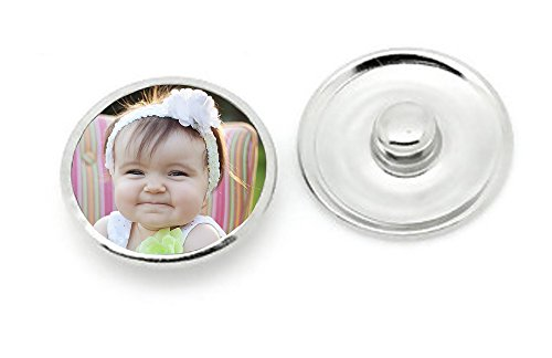1 - 18mm Snap in Photo Charm for Use with Interchangeable Photo Charm Jewelry (Charm 18mm 1)