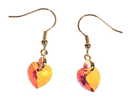 Swarovski Coral Peach Crystal Earrings -