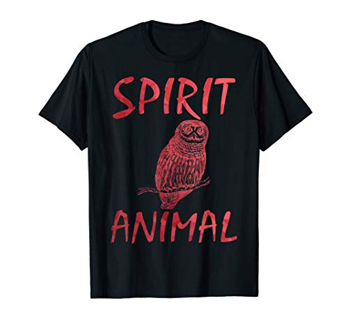 - Red abstract spirit animal owl shirt for men women boys girl