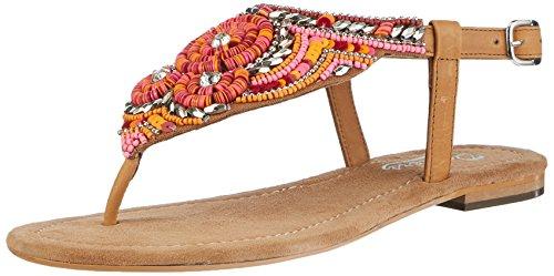 Dockers by Gerli 36an208-100447, Women's Sandals, Multi-Colored (Tan/Mehrfarbig 447), 5.5 UK (39 EU)