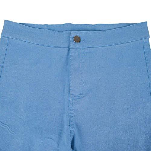 Denim Acogedores Lápiz Colour Con Botón Pantalones Y De Mujeres Bolsillos Ropa Cintura Jeans Skinny Adelina Casuales Alta Stretch U5wa5q