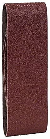 Bosch 2609256187 Sanding Belt for Belt Sanders 60 x 400 mm Grit Size 40 Sheets Red-Pack of 3